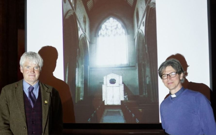 Matthew Thomas RIBA and Rev Jon Wright at the presentation on Friday