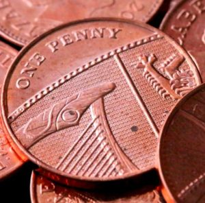 Penny 1p detail
