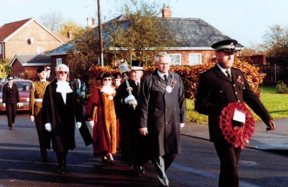 1. Coun. Hilda Ives, Armistice Day c. 1990.
