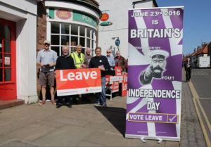 Vote Leave Campaigners in Hedon