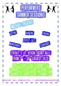 Performer's Summer Sessions