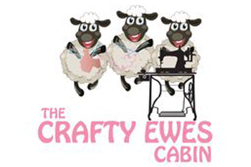 The Crafty Ewes Cabin logo